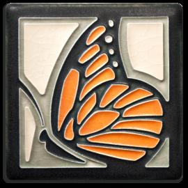 Tangerine Butterfly Tile