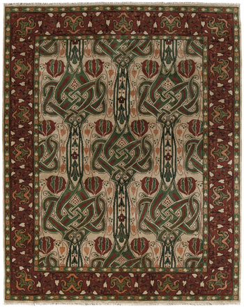 The Celtic Knot Rug in Red