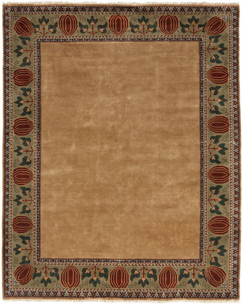 The Oak Park Border Rug in Gold