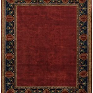 The Oak Park Border Rug in Red