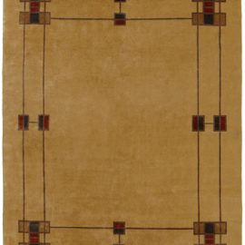 The Prairie Border Rug in Camel