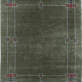 The Prairie Border Rug in Green