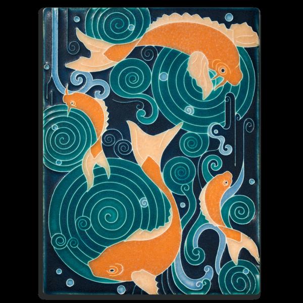 Turquoise Koi Pond Tile
