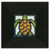 Turtle Tile in Ebony Frame