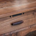 Walnut Media Cabinet Handle Detail