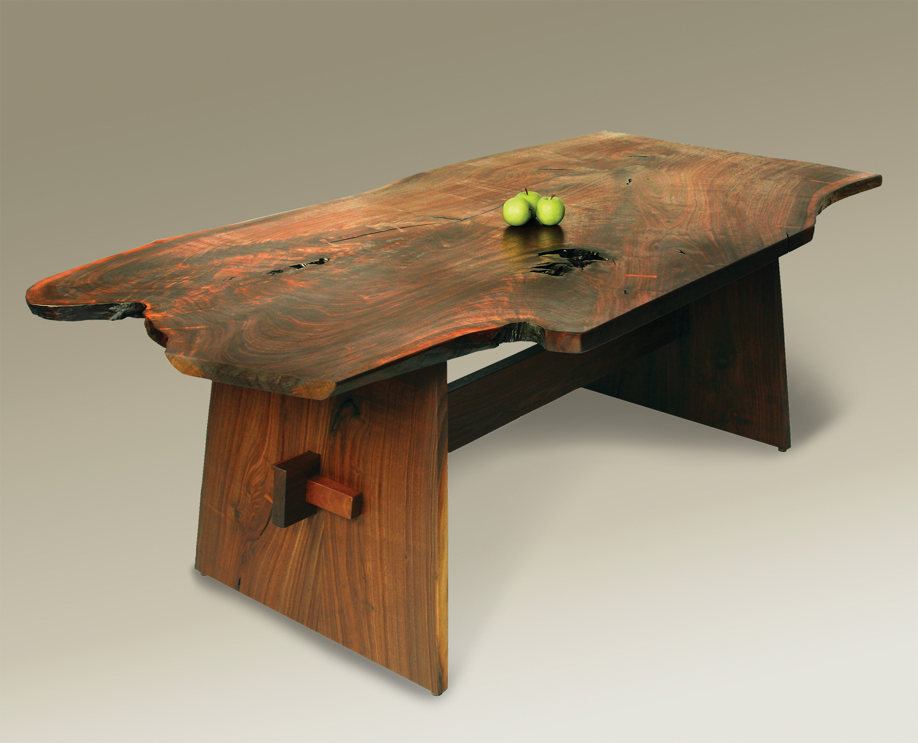 Organic Live Edge Wells Table