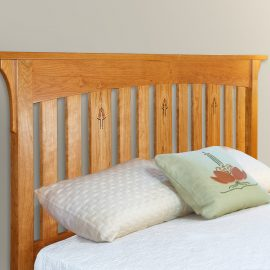 inlaid bed arts and crafts headboard