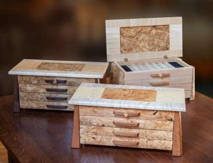 Burled Jewelry Boxes