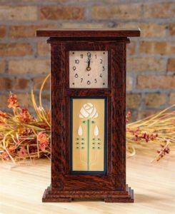 Column Tile Mantle Clock