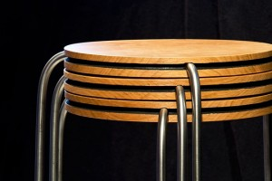 Round Stacking Side Table Set Detail
