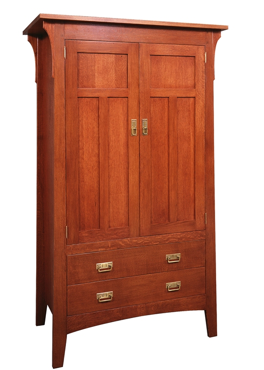 Prairie Armoire with Drawers