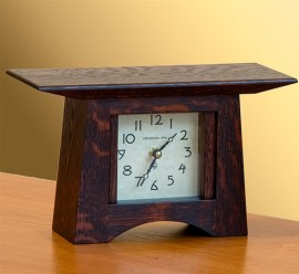 Oak Square Face Mantle Clock
