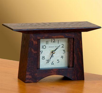 Oak Square Face Mantle Clock