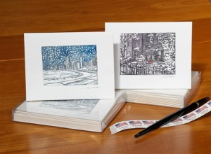 Winter Scene Notecards