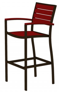 Euro Bar Chair with Arms