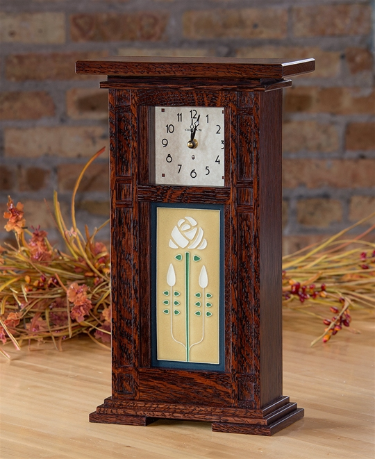 Column Tile Mantle Clock