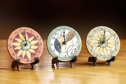 """Cloquette"" Round Mini Clocks"