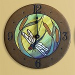 Dragonfly Rondelle Wall Clock