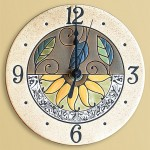 Sunflower Rondelle Wall Clock