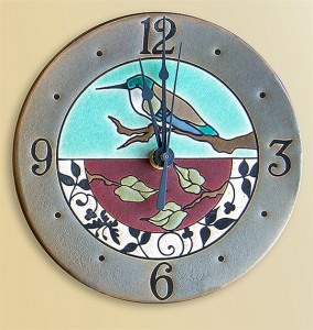 Hummingbird Rondelle Wall Clock