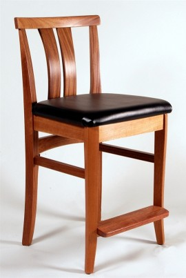 Asian Bar Chair (Sapele)