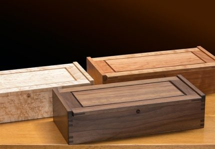 Small Dovetail Jewelry Box, Walnut