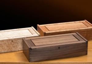 Small Dovetail Jewelry Box, Birdseye Maple