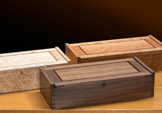 Small Dovetail Jewelry Box, Birdseye Maple