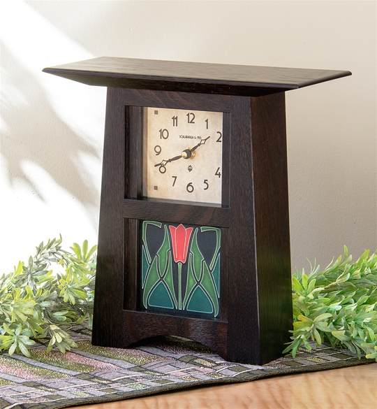 Schlabaugh & Motawi Arts & Crafts 4x4 Tile Clock