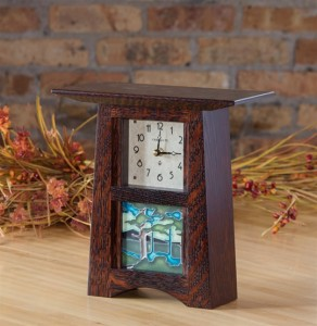 Arts & Crafts 4x4 Tile Clock