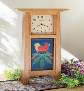 Schlabaugh & Motawi Contemporary 6x8 Tile Clock