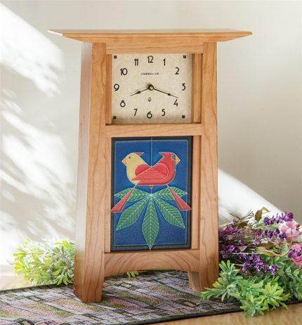 Schlabaugh & Motawi Contemporary 6x8 Tile Clock