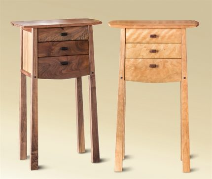Don G Three Drawer Tall Table