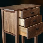 Three Drawer Tall Table open drawer detail