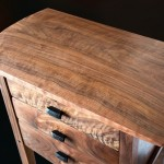 Black Walnut Three Drawer Tall Table