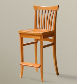 Winged Bar Chair (Cherry)