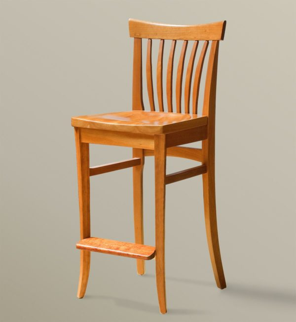 Winged Bar Chair (Cherry)