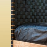 Sawbridge Studios Woven Bed headboard detail
