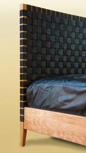 Sawbridge Studios Woven Bed headboard detail
