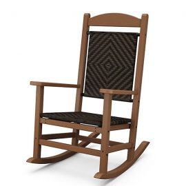 Presidential Woven Rocking Chair in Teak w Cahaba Loom