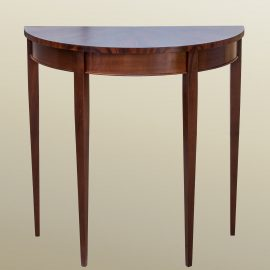 Demilune Mahogany Table with Drawer Front
