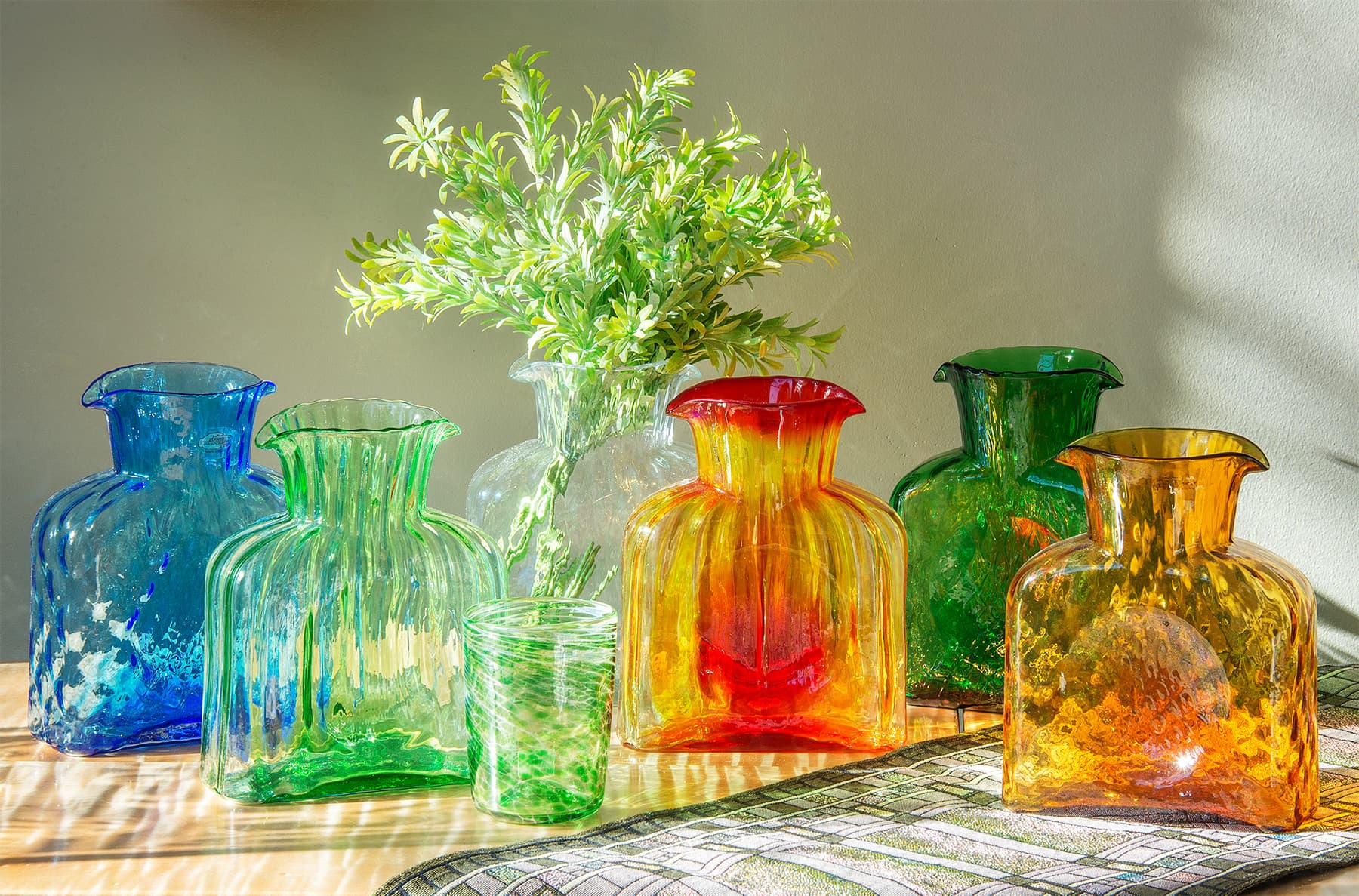 Sawbridge Studios Blenko Colorful Water Bottles