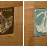 Brown Ginkgo and Green Cupboard Tile Options