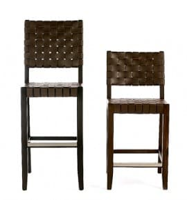 River Woven Barstools front