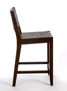 River Woven Barstools side