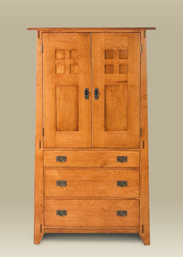 Sawbridge Studios Arts & Crafts Armoire
