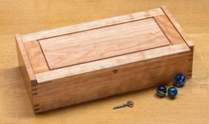 Small Dovetail Jewelry Box - Cherry