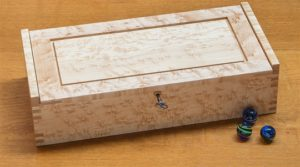 Small Dovetail Jewelry Box - Birdseye Maple
