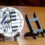 Music Note Round Cloquette