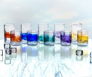 Short and Tall Organic Glass Tumblers